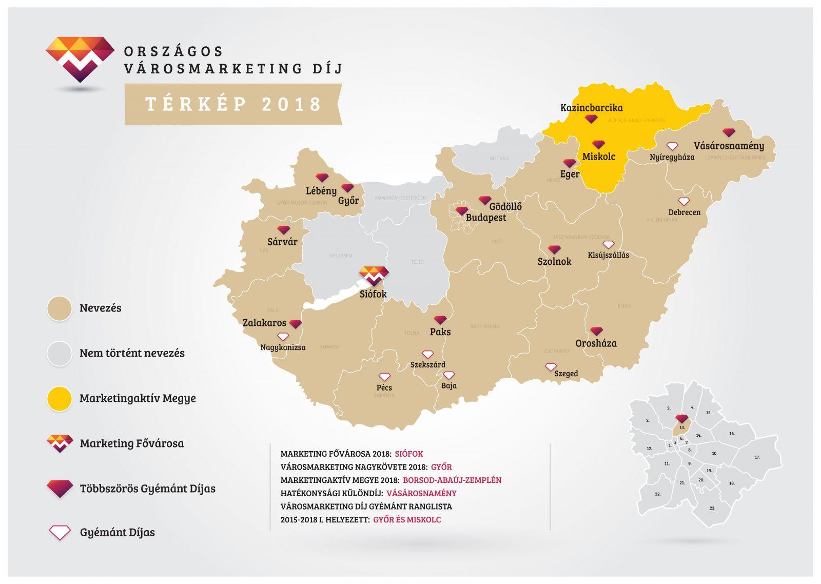 A negyedik évben 76 nevezés érkezett 23 várostól. A pályázó szervezetek 7  kategóriában nevezhettek. Idén - szemben az előző évekkel 7c2f3aec46